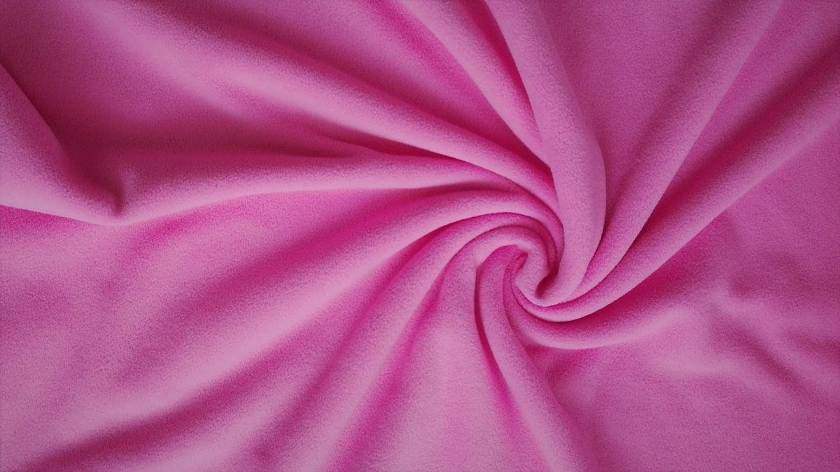 jednobarevný fleece růžový