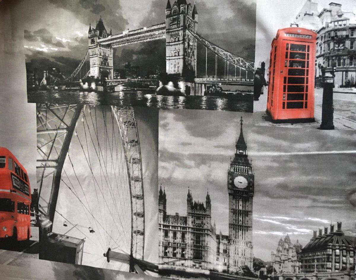 Plátno s potiskem Londýn