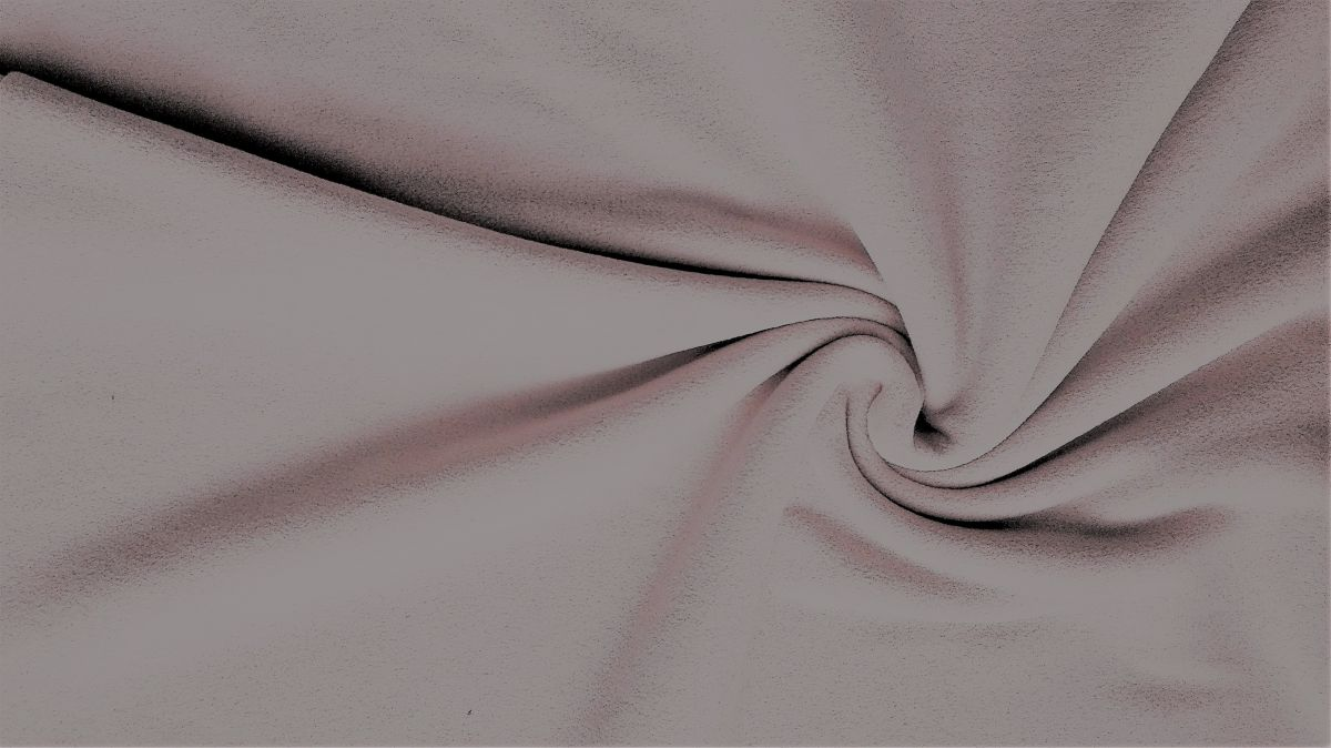 jednobarevný fleece bílý