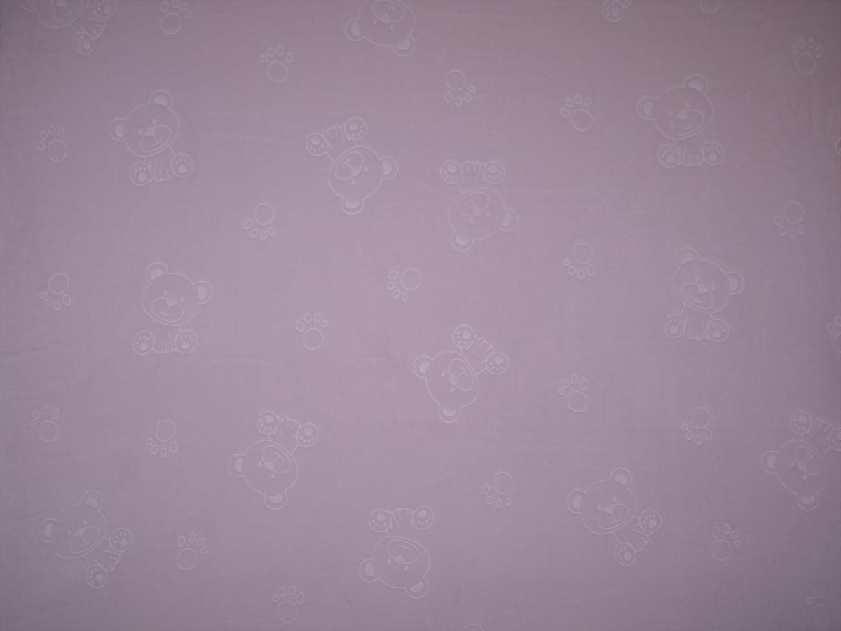 Flanel fleece medvídci světle růžová