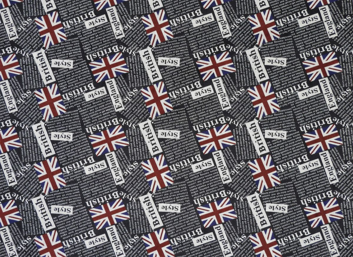 Plátno s potiskem vlajky British