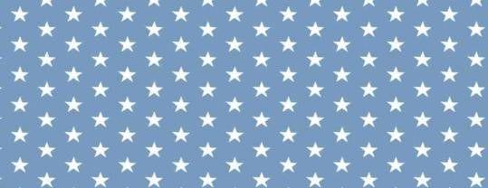 Plátno s potiskem hvězdičky na světle modré