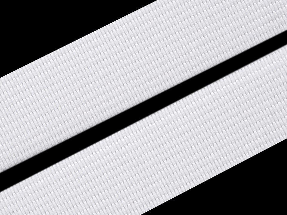 Bílá pruženka 15mm hladká