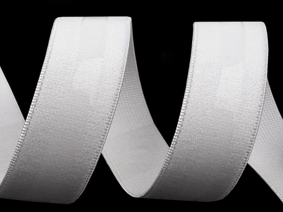 Bílá pruženka se silikonem 20mm