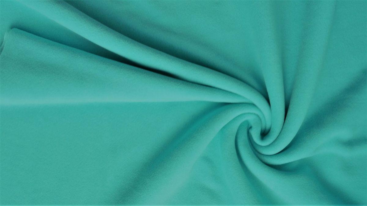 jednobarevný fleece mintový