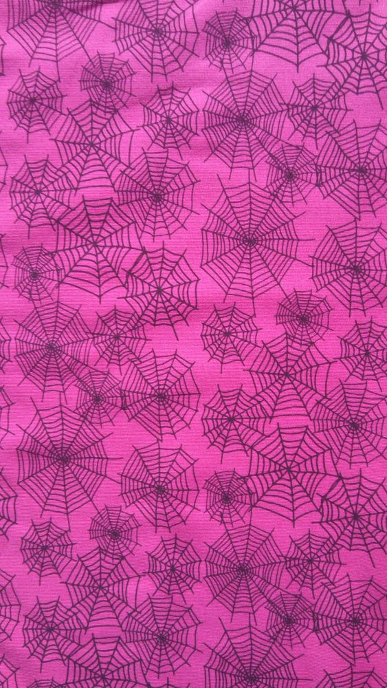 Teplákovina s elastanem pavučiny na růžové
