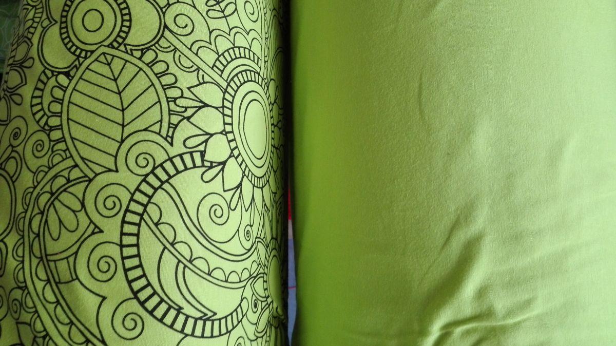 Elastický úplet omalovánky na zelené