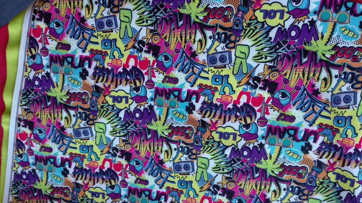 Softshell zimní s potiskem digitální tisk Graffitti