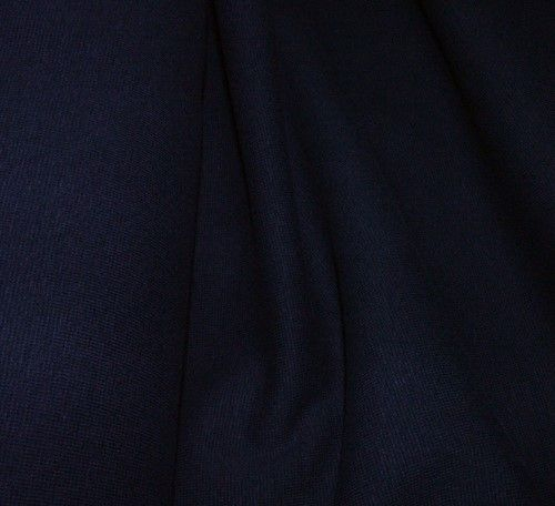 Elastický úplet tmavě modrý jednolíc
