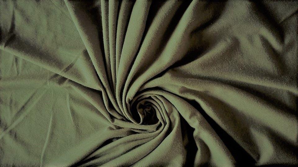 Elastický úplet khaki jednolíc