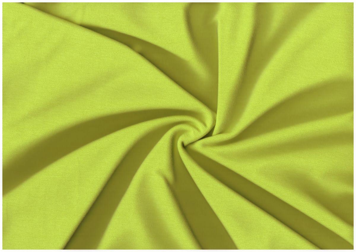 Teplákovina s elastanem fosforově žlutá