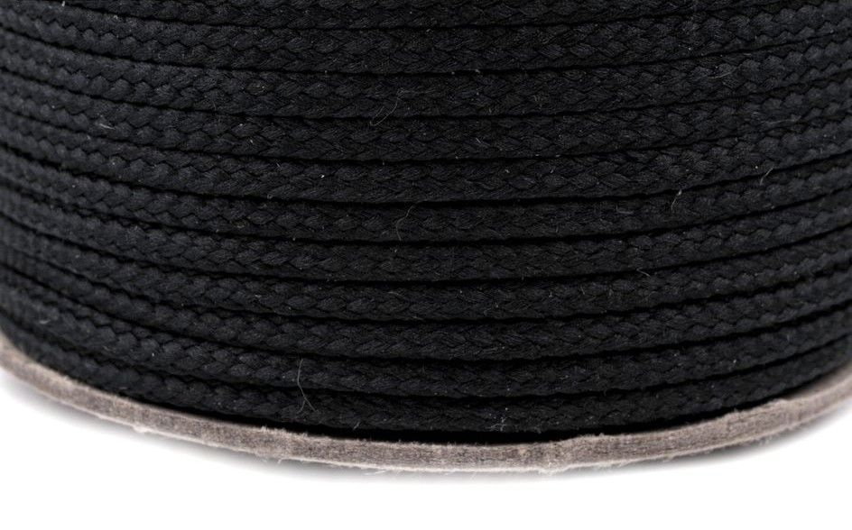 Kulatá šňůrka černá