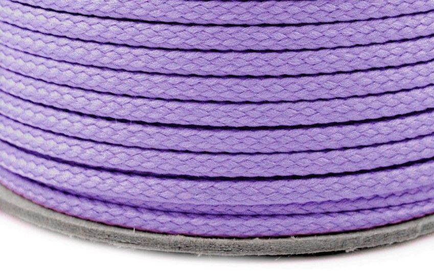 Kulatá šňůrka světle fialová