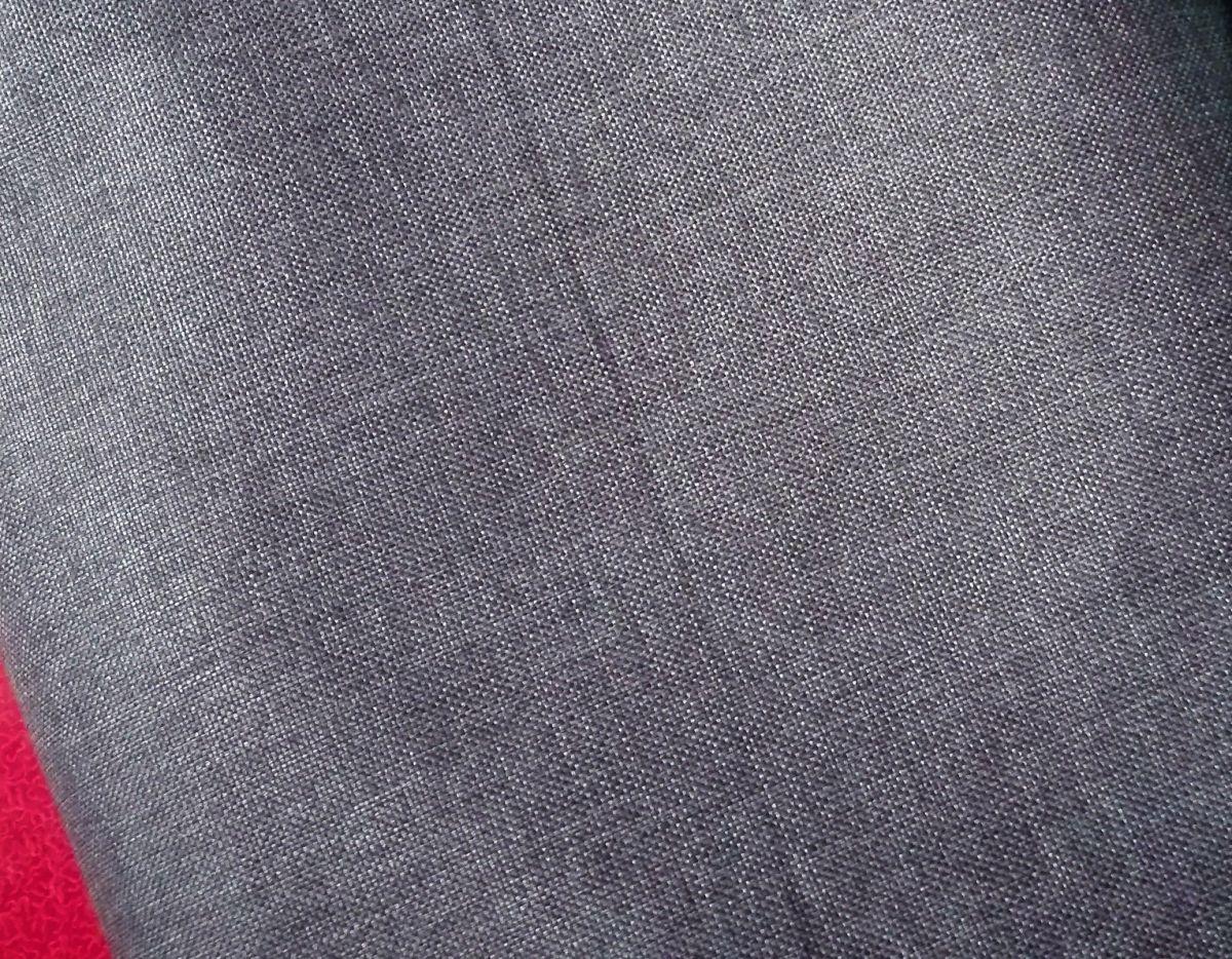 Kočárkovina s potiskem imitace len - tmavě modrá-jeans
