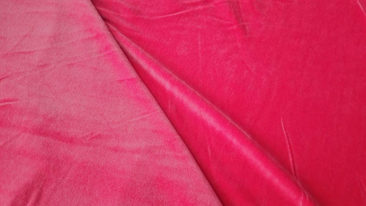 Kojenecký plyš - samet světle červený